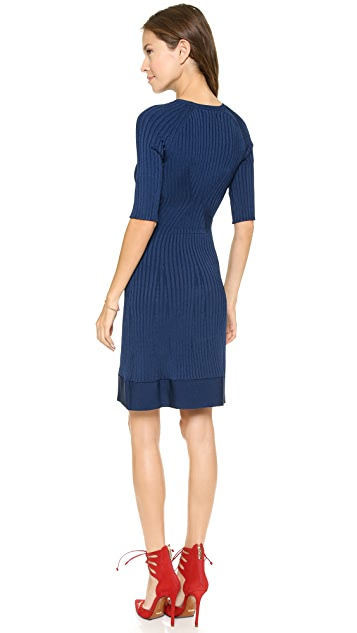 ISSA Ethel Rayon Rib Dress