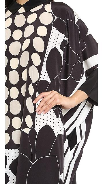ISSA Maya Poncho Dress
