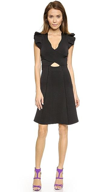 ISSA Eden Ruffle Sleeve Dress