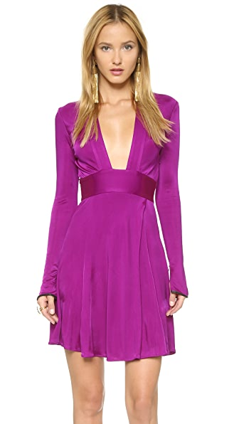 ISSA Pheodora Deep V Neck Dress
