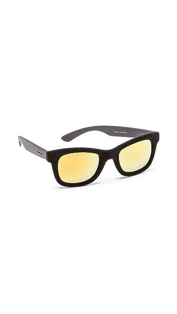 Italia Independent Square Velvet Sunglasses