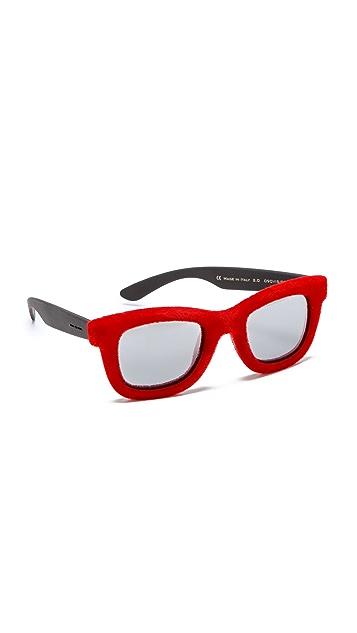 Italia Independent Square Extra Velvet Sunglasses
