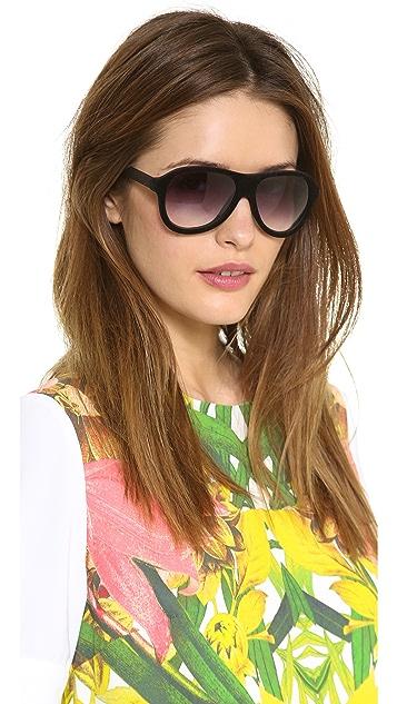 Italia Independent Velvet Aviator Sunglasses
