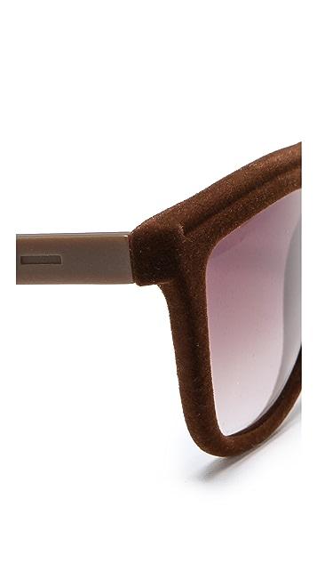 Italia Independent Velvet Flat Top Sunglasses