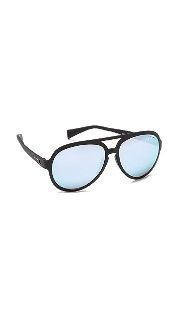 Italia Independent Sport Aviator Sunglasses with Mirrored Lenses