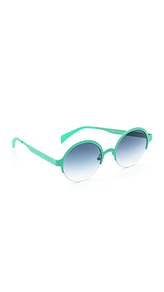 Italia Independent Round Metal Sunglasses