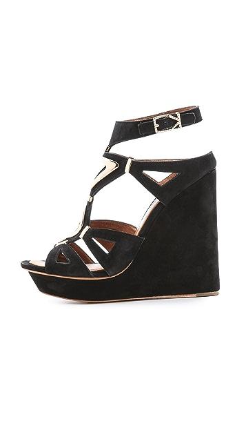 Ivy Kirzhner Nile Wedge Suede Sandals