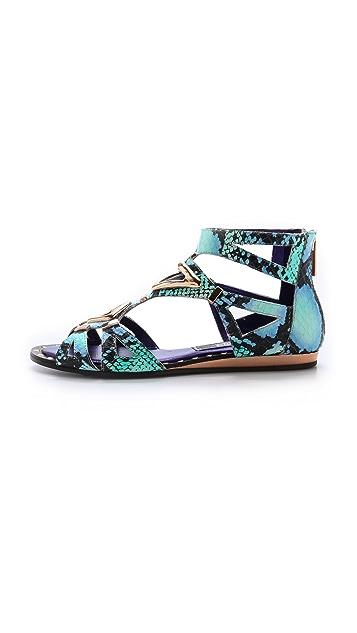 Ivy Kirzhner Babylon Snakeskin Sandals