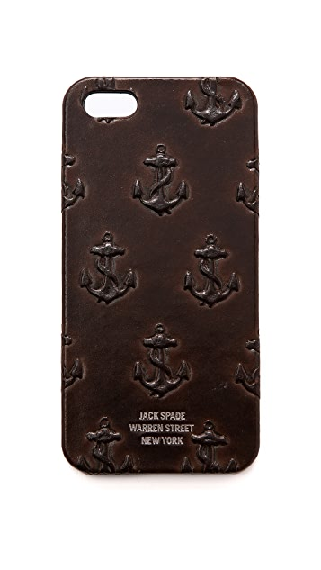 Jack Spade Embossed Leather iPhone 5 / 5S Case