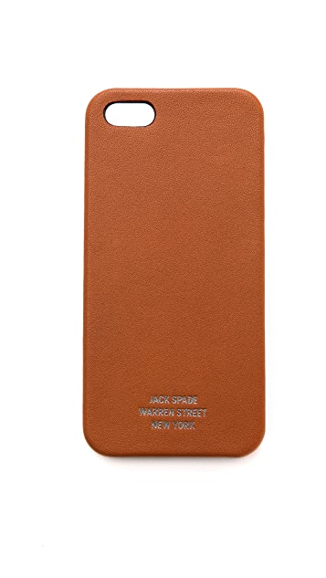 Jack Spade Mill Leather iPhone 5 / 5S Case
