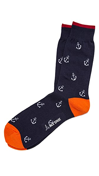 Jack Spade Anchor Socks