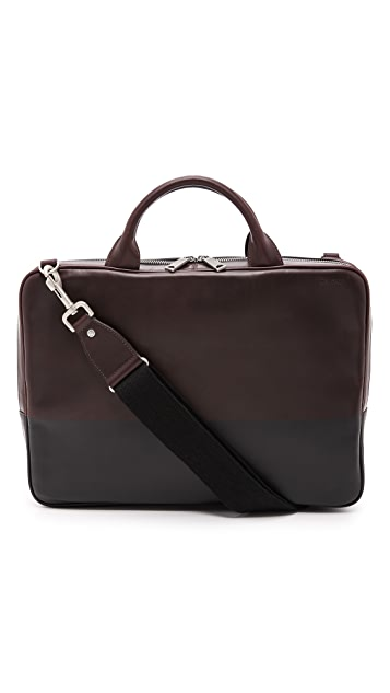 Jack Spade Dipped Leather Slim Briefcase