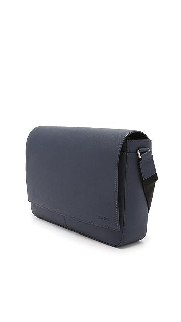 Jack Spade Barrow Leather Messenger Bag