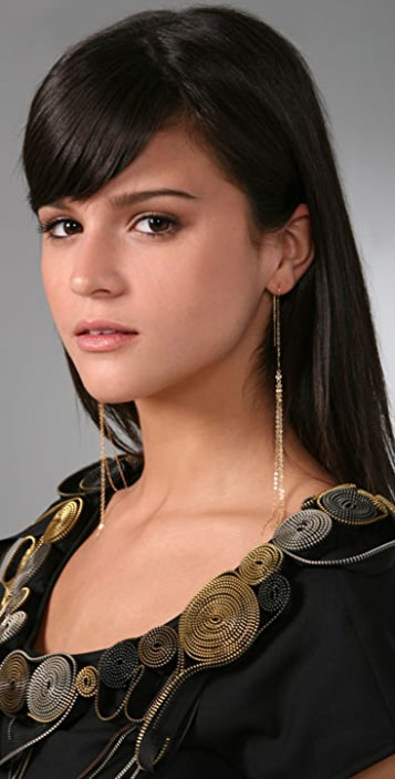 Jacquie Aiche Thread Shower Earrings