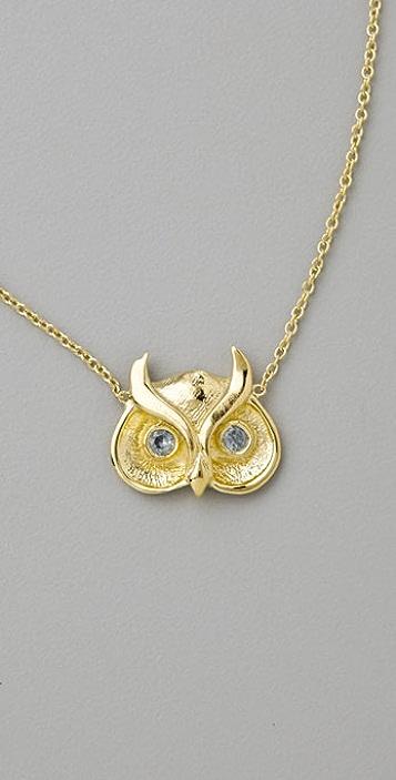 Jacquie Aiche Owl Necklace