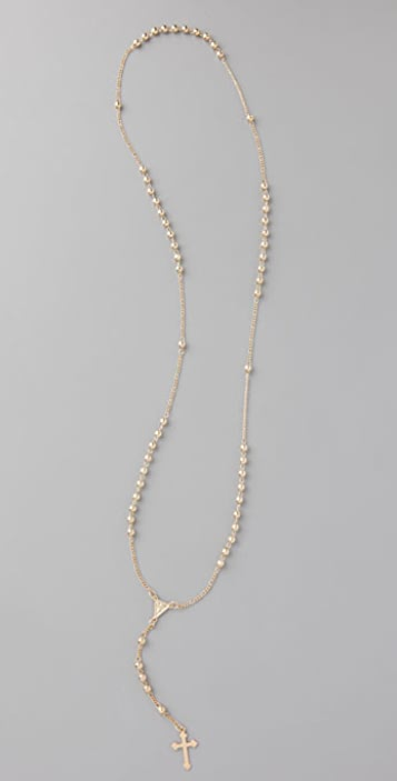 Jacquie Aiche Long Rosary Necklace