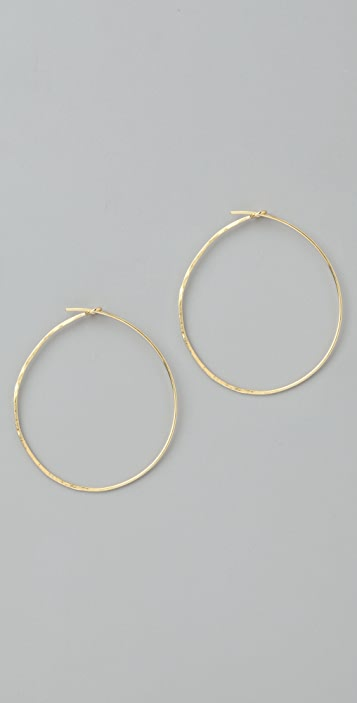 Jacquie Aiche Hammered Circle Hoops