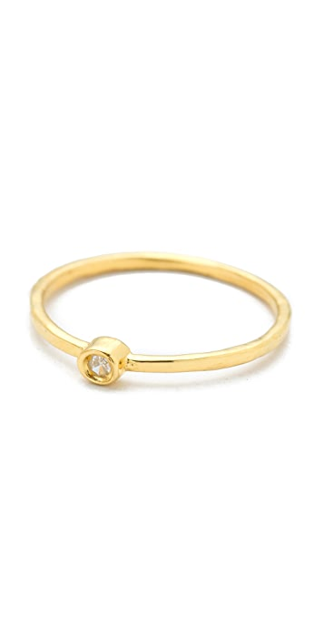 Jacquie Aiche JA Diamond Waif Bezel Ring