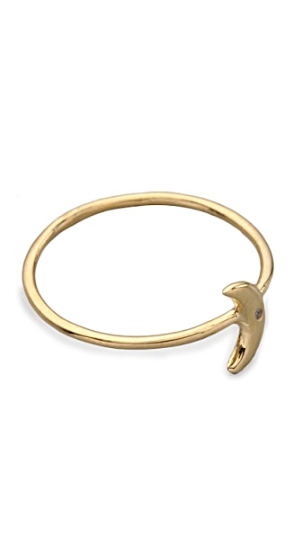 Jacquie Aiche JA White Diamond Mini Moon Waif Ring