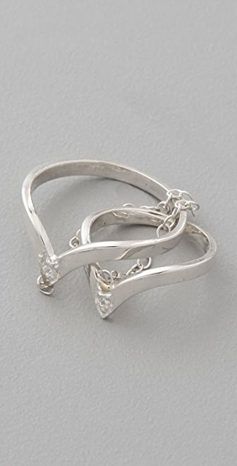 Jacquie Aiche V Chain Ring