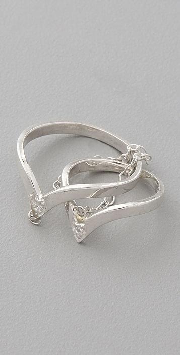 Jacquie Aiche V Chain Ring