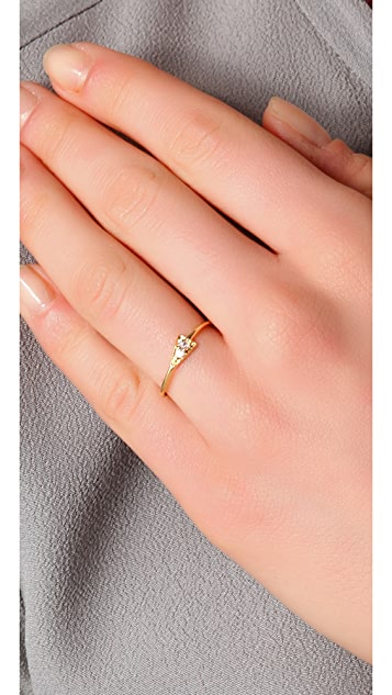 Jacquie Aiche JA Pave Pyramid Double Bezel Ring