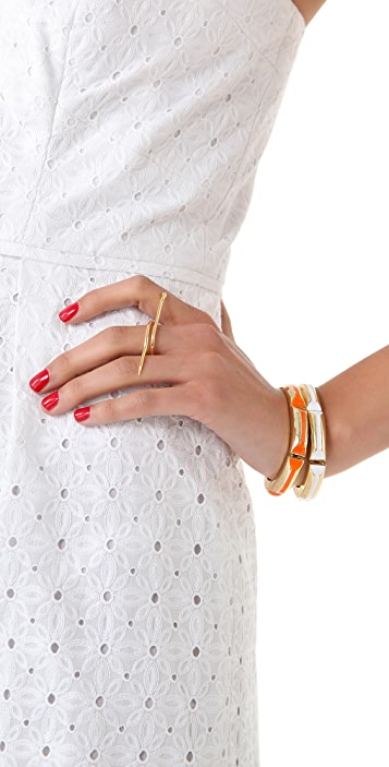 Jacquie Aiche JA Snake Flat Bar Ring