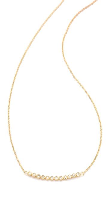 Jacquie Aiche JA 12 CZ Bezel Curved Necklace