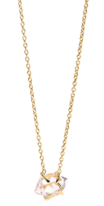 Jacquie Aiche JA Herkimer Crystal Solitaire Necklace