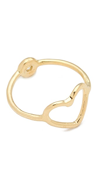 Jacquie Aiche JA Double Ring with Bezel
