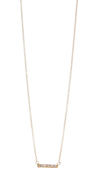 Jacquie Aiche JA CZ Mini Bar Necklace