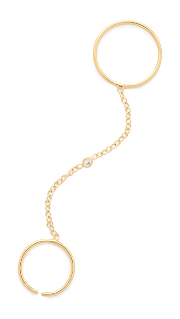 Jacquie Aiche Smooth Double Chain Ring