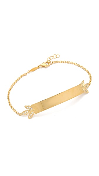 Jacquie Aiche JA Leaves ID Bracelet