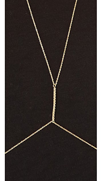 Jacquie Aiche JA Prong Bar Body Chain