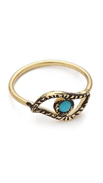 Jacquie Aiche JA Turquoise Eye Waif Ring
