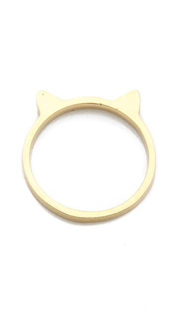 Jacquie Aiche JA Plain Kitty Ear Waif Ring