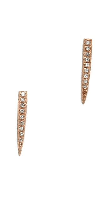 Jacquie Aiche Pave Medium Ice Pick Stud Earring