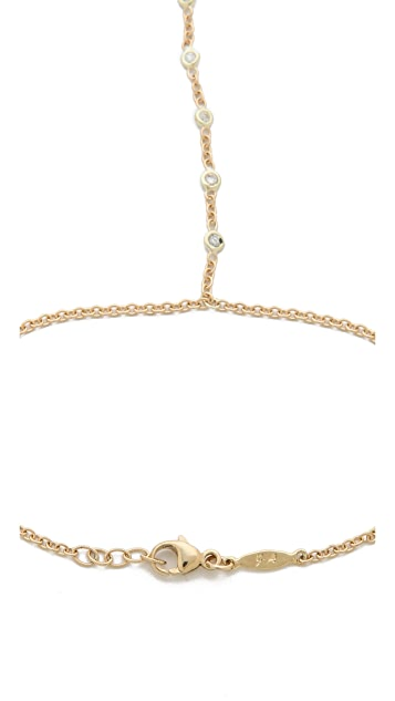 Jacquie Aiche 7 Diamond Finger Bracelet