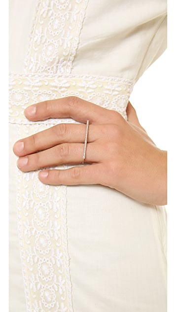 Jacquie Aiche Diamond Bar Knuckle Ring