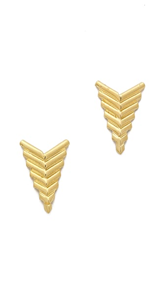 Jacquie Aiche JA Deco Arrow Stud Earrings