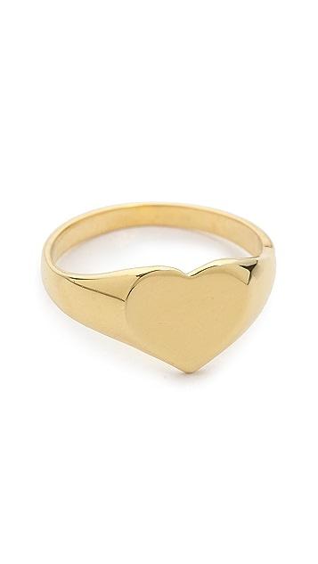 Jacquie Aiche JA Heart Signet Ring Topper
