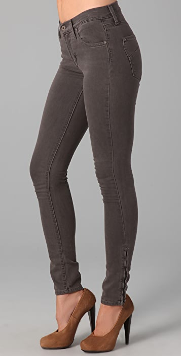 James Jeans Twiggy 5 Pocket Legging Jeans with Ankle Zips