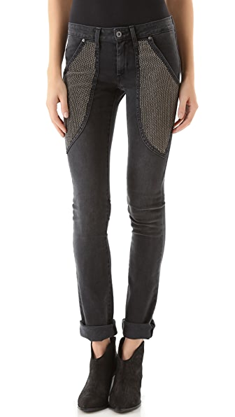 James Jeans Studded Pocket Straight Leg Jeans
