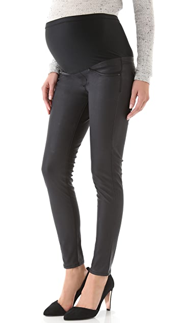 James Jeans Maternity Twiggy Faux Leather Pants