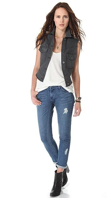 James Jeans Vega Cropped Safari Vest