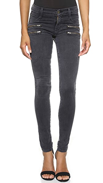 James Jeans Twiggy Crux Double Front Zip Skinny Jeans - Slate