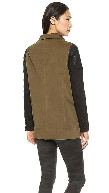 James Jeans Ponte Sleeve Utility Jacket