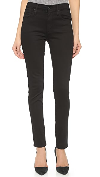 James Jeans High Class Skinny Jeans - Flat Black