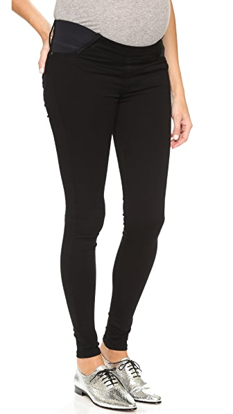 James Jeans Twiggy Maternity Under Belly Pull On Jeans - Black Swan