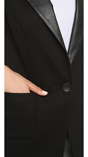James Jeans Cap Sleeve Tuxedo Vest